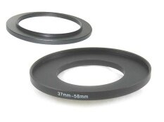 ราคา Black Aluminum 37 To 58Mm 37Mm 58Mm 37 58 Mm Step Up Filter Ring Stepping Adapter Intl Dslrkit ใหม่