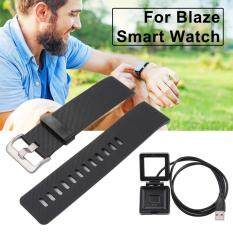 ขาย ซื้อ Black Replacement Watch Band With Metal Clasps Usb Charger For Fitbit Blaze