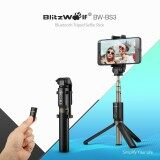 Blitzwolf Bw Bs3 3 In 1 Bluetooth Mini Extendable Folding Tripod Selfie Stick Black Intl เป็นต้นฉบับ