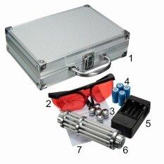 ราคา ตัวชี้เลเซอร์สีน้ำเงิน Lazer Beam ปากกา 5 Head กรณี Battery Charger แว่นตา 5 มิลลิวัตต์ 450Nm ใหม่ ถูก
