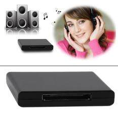 Bluetooth 2 1 A2Dp Music Receiver Audio Adapter For 30 Pin Dock Speaker Black เป็นต้นฉบับ