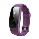Bluetooth 4 Heart Rate Bracelet Monitor Waterproof Smart Watch Purple Intl ใหม่ล่าสุด