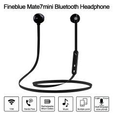 Bluetooth Headphones Fineblue Mate7Mini Stereo Bluetooth 4 In Ear Sport Sweatproof Magnetic Headsets Noise Cancelling Music Earphones Hands Free W Mic Black For Iphone 7 6S Samsung Galaxy S7 Note 6 Android Ios Smartphone Intl Unbranded Generic ถูก ใน จีน