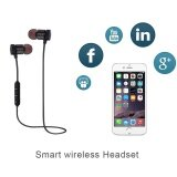 ทบทวน Bluetooth Headset Headphone Sport Stereo Earphone Handfree Magnet For Phone Intl