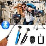 ส่วนลด Bluetooth Shutter Extendable Handheld Mobile Phone Selfie Stick Monopod Xcsource ใน Thailand
