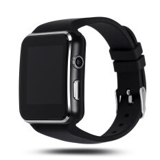 ขาย Bluetooth Smart Watch X6 Smartwatch For Apple Iphone Android Phone With Camera Fm Support Sim Card Black Intl Smart Watches