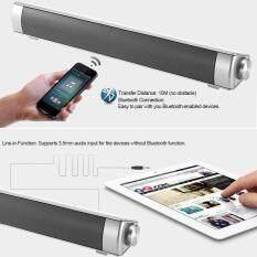 ขาย Bluetooth Sound Bar Bluetooth Speakers Home Theater Super Bass Subwoofer Hands Free Support Aux In Tf Card Music Play Silver Grey For Tv Pc Tablets Smart Phones Intl Unbranded Generic ถูก