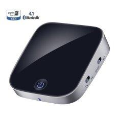 ความคิดเห็น Bluetooth V4 1 Transmitter And Receiver 2 In 1 Wireless Audio Adapter With Optical Toslink Spdif And 3 5Mm Stereo Output Support Apt X Low Latency 2 Devices Pair At Once For Home Or Car Sound System Intl