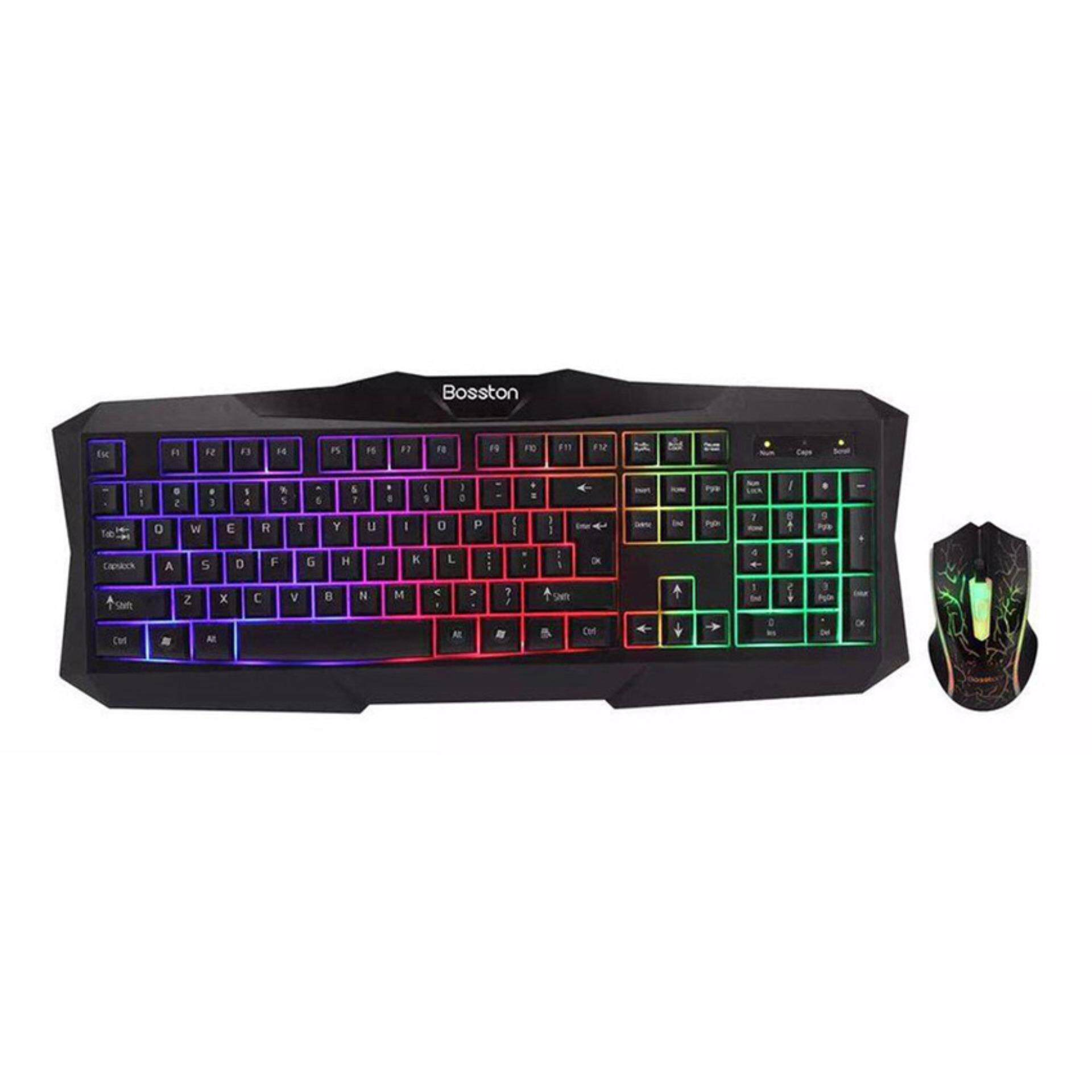 BOSSTON K/B + MOUSE GAMING [ 837 ] COLORFULL LIGHTING