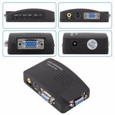 Box Av To Vga Converter Avเหลือง/ Svideo To Vga (สีดำ) By Ic Shop.