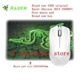 ราคา Brand New Original Razer Abyssus 2014 Ambidextrous Gaming Mouse 3500Dpi Optical Sensor 3 Programmable Hyperesponse Buttons Free Mouse Pad Intl ใหม่ ถูก