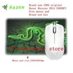 ราคา Brand New Original Razer Abyssus 2014 Ambidextrous Gaming Mouse 3500Dpi Optical Sensor 3 Programmable Hyperesponse Buttons Free Mouse Pad Intl ถูก