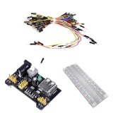ขาย ซื้อ Breadboard Kit 3 3V 5V Breadboard Power Supply Module Mb 102 Model 830 Tie Points Solderless Pcb Breadboard With Adhesive Tape And 65Pcs Breadboard Wires Intl