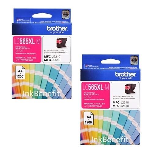 ราคา Brother Ink รุ่น Lc 565Xl M 2 กล่อง สีชมพู ใหม่