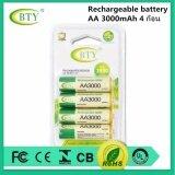 ราคา Bty ถ่านชาร์จ Aa 3000 Mah Nimh Rechargeable Battery 4 ก้อน เป็นต้นฉบับ