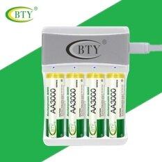 ทบทวน ที่สุด Bty ถ่านชาร์จ Rechargeable Batteries Aa 3000 Mah Ni Mh 4 ก้อน และ Usb 5V เครื่องชาร์จแบตเตอรี่ Aa หรือ Aaa