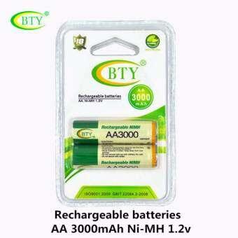 BTY ถ่านชาร์จ AA 3000 mAh NIMH Rechargeable Battery 2 ก้อน-