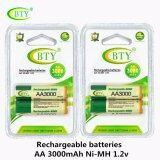 ซื้อ Bty ถ่านชาร์จ Aa 3000 Mah Nimh Rechargeable Battery 2 ก้อน X 2 ออนไลน์ ถูก