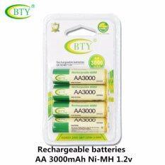 ราคา Bty ถ่านชาร์จ Aa 3000 Mah Nimh Rechargeable Battery 4 ก้อน ออนไลน์