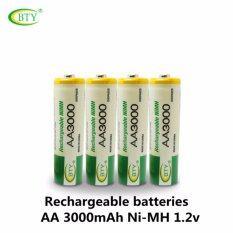 ซื้อ Bty ถ่านชาร์จ Aa 3000 Mah Nimh Rechargeable Battery 4 ก้อน ถูก