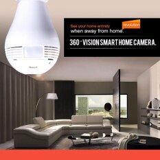 ทบทวน ที่สุด Bulb Light Ip Camera 360 Degree Video Surveillance Cctv กล้องถ่ายรูป Wireless Wi Fi Bulb Lamp Fisheye Panoramic P2P Home Security 960P