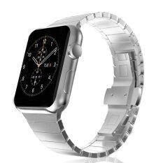 ขาย Butterfly Buckle Stainless Steel Watch Band Link Bracelet For Apple Watch Series 2 Series 1 42Mm Silver Intl Unbranded Generic ถูก