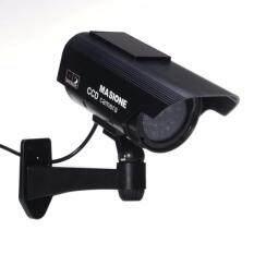 ราคา Buy 1 Get 1 Free Free Warning Sticker Waterproof Indoor Outdoor Solar Powered Led Fake Simulated Dummy Ccd Surveillance Security Camera With Blinking Light ใหม่