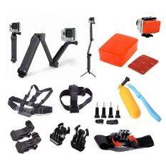 Buyanyway โกโปร คิืท สุดคุ้ม  9 In 1 ชุดอุปกรณ์กล้อง โกโปร  Gopro  Equipments set for Gopro - Xiaomi Yi - SJ cam  Action cam Suit Accessories