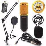 ซื้อ Buybuytech At First Bm 800 Condensor Microphone ไมค์โครโฟนอัดเสียง Set Sound Card Usb Black ใหม่ล่าสุด