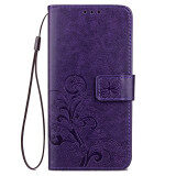 ราคา Byt Flower Debossed Leather Flip Cover Case For Oppo R9 F1 Plus Purple ใหม่ ถูก