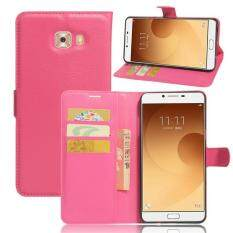 BYT Flower Debossed Leather Flip Cover Case for Samsung Galaxy J7 (2015) - intlTHB214