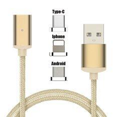 ราคา Cable For Android Mobile Phone Woven Magnetic Suction Cable Android Charging Cable Intl ราคาถูกที่สุด