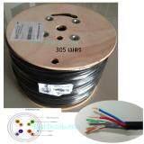 ขาย สายแลน ไฟ Cable Lan Cable Utp Cat5E Dc Outdoor 305M เป็นต้นฉบับ