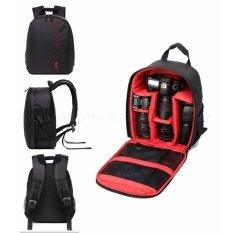 ขาย Camera Backpack Bag Waterproof กระเป๋าเป้สะพายหลังสำหรับใส่กล้อง กันน้ำ กระเป๋ากล้อง Dslr Case For Canon Nikon Sony Red Cgo ผู้ค้าส่ง
