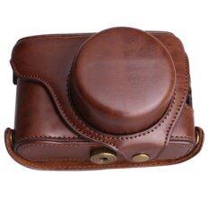 ส่วนลด สินค้า Camera Bag Case Pu Hard Leather Cover Fits For Fujifilm Fuji X100F X100S X100T X100 Camera With Strap Intl