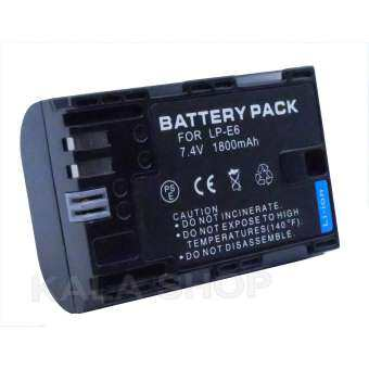 Camera battery LP-E6 for Canon EOS 6D 7D 60D 5D2 5D3 80D 7D2 5DSR(black)