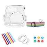 Camera Bundles Set Plastic Carrying Case Cover Self Portrait Mirror Colorful Close Up Lens Kit Photo Border Stickers Accessories For Fujifilm Instax Mini 8 Instant Cameras Clear Intl จีน