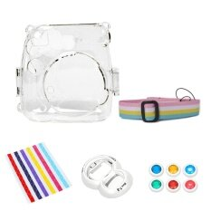 Camera Bundles Set Plastic Carrying Case Cover Self Portrait Mirror Colorful Close Up Lens Kit Photo Border Stickers Accessories For Fujifilm Instax Mini 8 Instant Cameras Clear Intl ใหม่ล่าสุด