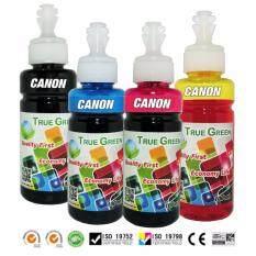ส่วนลด หมึกพิมพ์ Canon 100Ml เกรด A เติมได้ทุกรุ่น B C M Y หมึกเติม Canon 4 ขวด ไทย