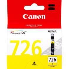 ซื้อ Canon Cli 726 Y Yellow Ink Cartridge สีเหลือง หมึกแท้ รับประกันศูนย์