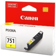 โปรโมชั่น Canon Cli 751 Y Inkjet Cartridge Yellow สีเหลือง หมึกแท้ รับประกันศูนย์ ใน กรุงเทพมหานคร