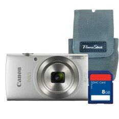 ซื้อ Canon Digital Camera Ixus 175 Silver Sd Card 8 Gb Bag ประกันศูนย์