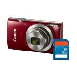Canon Digital Camera Ixus 175 Red ประกันศุนย์ Sd Card 8 Gb ไม่มีกระเป๋า ถูก
