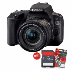 Canon Eos 200d Kit Lens Ef-S 18-55 Is Stm( Black) แถม Sdhc16gbc10+ฟิล์มกันรอย.