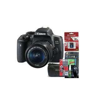 Canon EOS 750D Kit 18-55 STM  (ประกันร้านEC-Mall) + SD TRANSCEND 16GB (400X) + ฟิล์มกันรอย + ชุดทำคว-