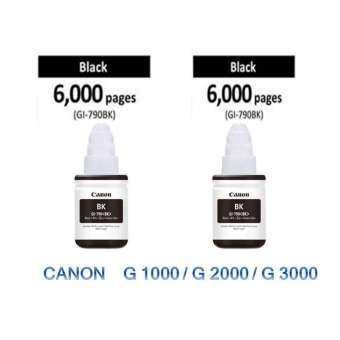 Canon Ink Genuine GI-790 Black 2 ขวด (Nobox) For G1000/G2000/G3000 -