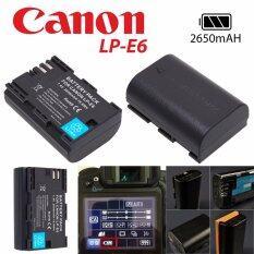 แบตเตอรี่กล้อง Canon LP E6 Li-ion Battery LP-E6 LPE6 2650mAh for Canon 6D 5D Mark III 5D Mark II 7D 60D Camera