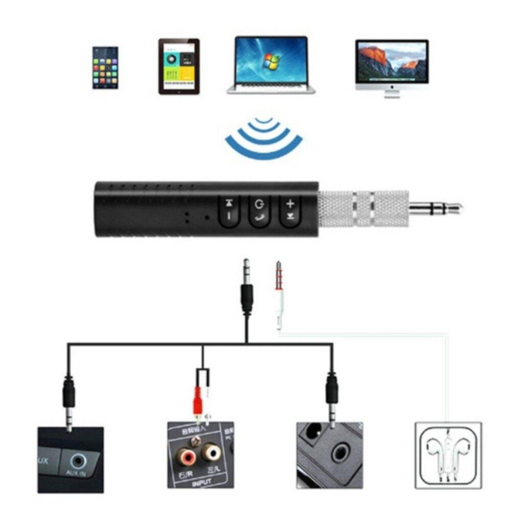 ดี เกินราคา เครื่องเสียงและโฮมเธียร์เตอร์ Bluetooth Music Receiver ตัวรับสัญญาณบูลทูธ  บลูทูธในรถยนต์ เปลี่ยนลำโพงธรรมดาเป็นลำโพงบูลทูธ Car Bluetooth AUX 3.5mm Jack Bluetooth Receiver Handsfree Call Bluetooth Adapter Car Transmitter Auto Music Receivers ลดราคาและมีของแถม