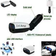 ส่วนลด Car Charger Digital Voltmeter Dual 2 Usb Port 3 4Amp Charger With Led Display หัวชาร์จ Unbranded Generic ไทย