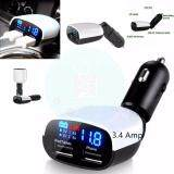 ขาย Car Charger Digital Voltmeter Dual 2 Usb Port 3 4Amp Charger With Led Display หัวชาร์จ White Unbranded Generic ใน ไทย